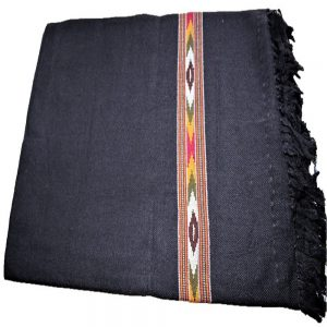 Kullu Cashmilon Women Shawl-Black Color