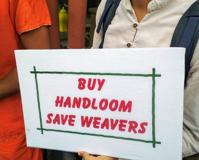 Why Weavers Came on Streets to Sell Their Art on Handloom