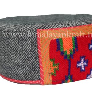 Himachal Hat (Cap)-Be a Pahari -Grey with Beautiful Patti-HimalayanKraft