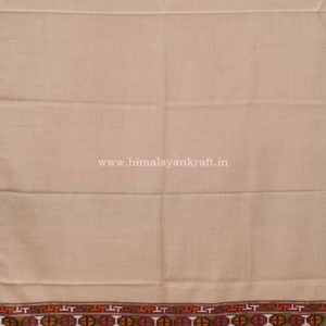 Women White Shawls | Marino Wool Hand Woven Embroidered Kullu