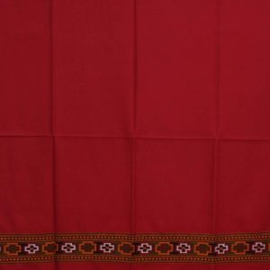 Kullu Pure Wool Handwoven Embroidered Women Red Shawl