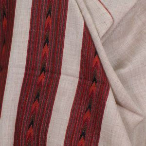 Kullu Pure Wool Handwoven Embroidered Women Silver White Shawl