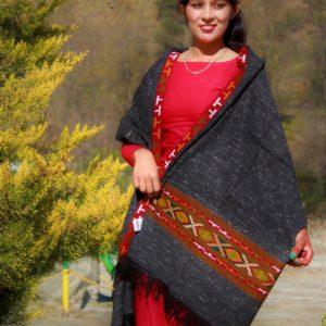 Himalayan Women Wool Shawl Purely Hand Woven Handloom