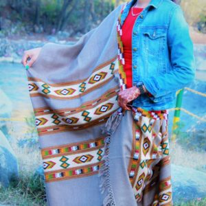 Pure Handwoven Burfi Designed Handloom Pure Wool Kullu Shawl Grey