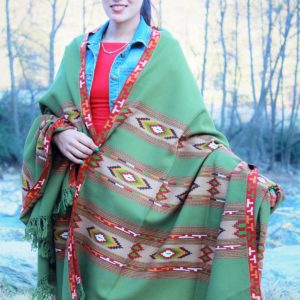 Deep Weaving Burfi Designed Hand Woven Kullu Shawl (Light Green)