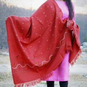 Fine Wool Handloom Shawl Purely Hand Woven Floral Design