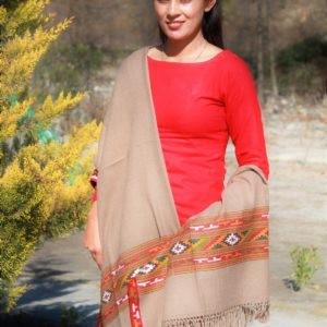 HandWoven Women Handloom Light Brown Shawl