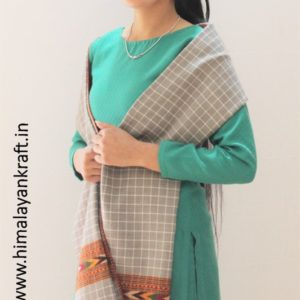 HimalayanKraft's Kullu Handloom Pure Wool Stripped Stole