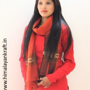 Himachal Handloom Stole From Kullu :Purely Woolen and Hand Woven
