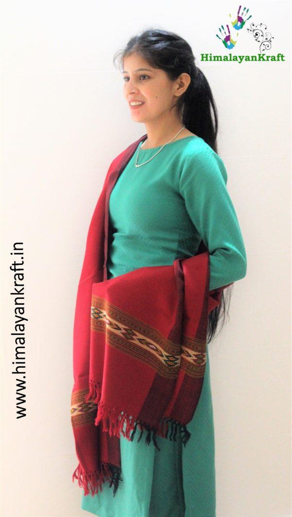Pure Wool Stole   From World Famous Kullu Handloom-www.himalayankraft.in