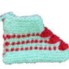 Hand Knitted Baby Woolen Booties (0-24 Months) 3 Pair- Cyan Color