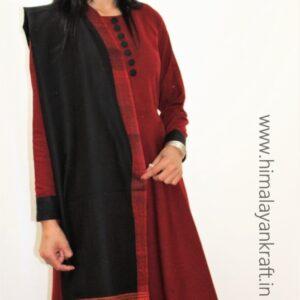HimalayanKraft Handwoven Pure Wool Kullu Handloom Stole
