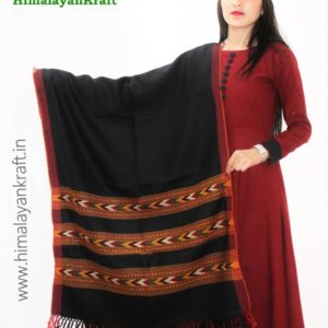Purely Hand Woven Pure Wool Himachal Handloom Stole