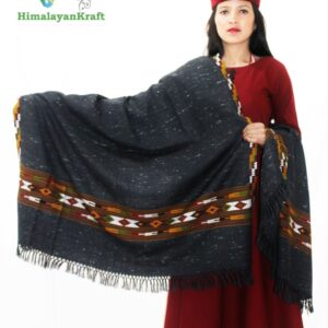 Purely Hand Woven Wool Kullu Handloom Shawl Online