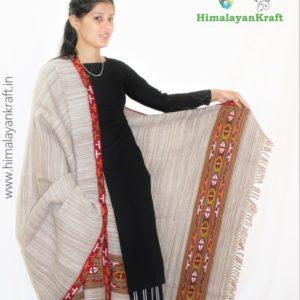 HimalayanKraft Purely Hand Woven Kullu Handloom Pure Wool Shawl