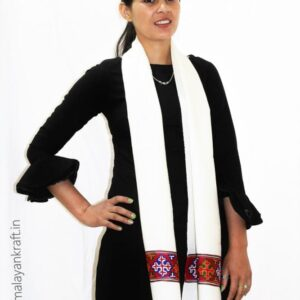 Purely Hand Woven Traditional Kullu Handloom Wool Muffler For Unisex