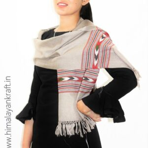 Premium Hand Woven Traditional Kullu Handloom Wool Muffler For Unisex